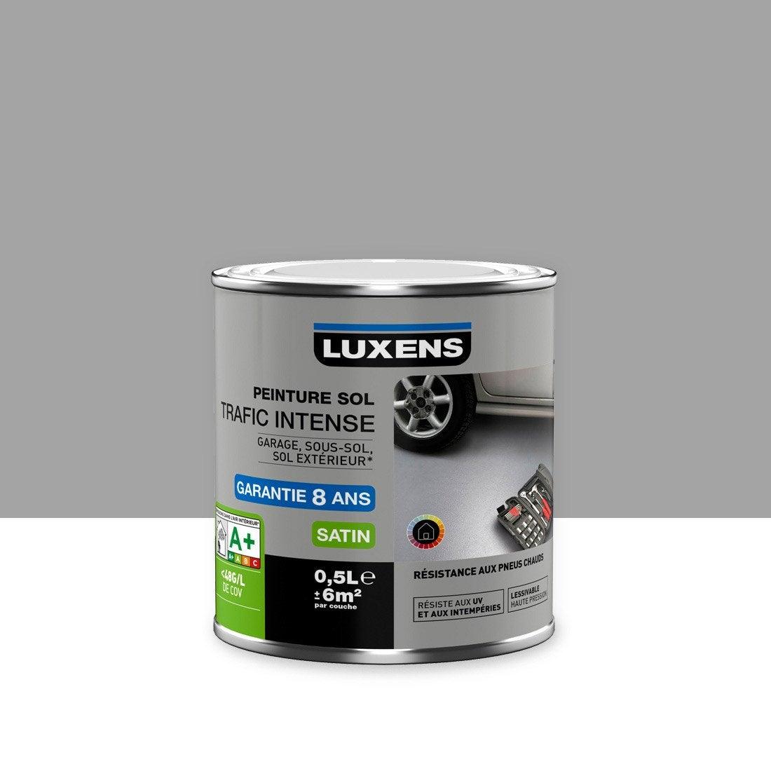 Best Peinture Sol Ext Rieur Int Rieur Trafic Intense Luxens Gris With  Nuancier Luxens Leroy Merlin