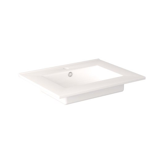 Plan vasque meuble de salle de bains leroy merlin for Vasque en verre leroy merlin
