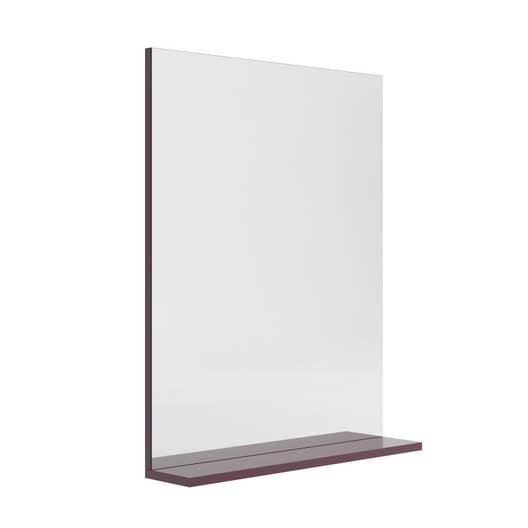 miroir avec tablette aubergine l 60 0 cm opale leroy. Black Bedroom Furniture Sets. Home Design Ideas