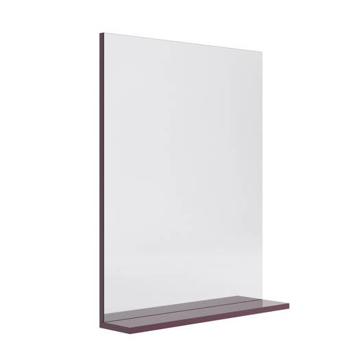 miroir avec tablette aubergine l 60 0 cm opale leroy merlin. Black Bedroom Furniture Sets. Home Design Ideas