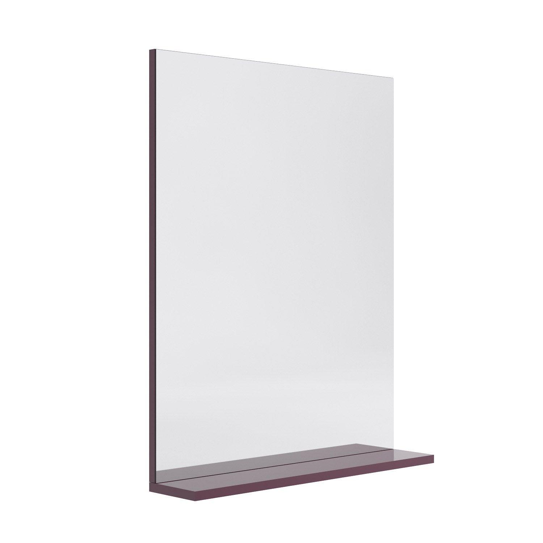 Miroir Avec Tablette Aubergine L 600 Cm Opale