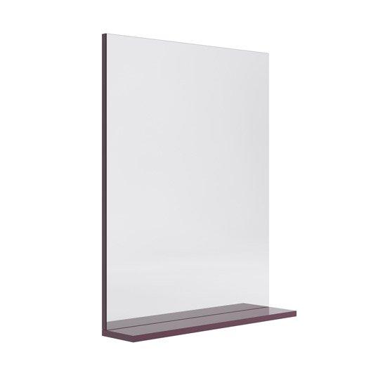 Miroir avec tablette cm opale leroy merlin for Miroir 60 cm