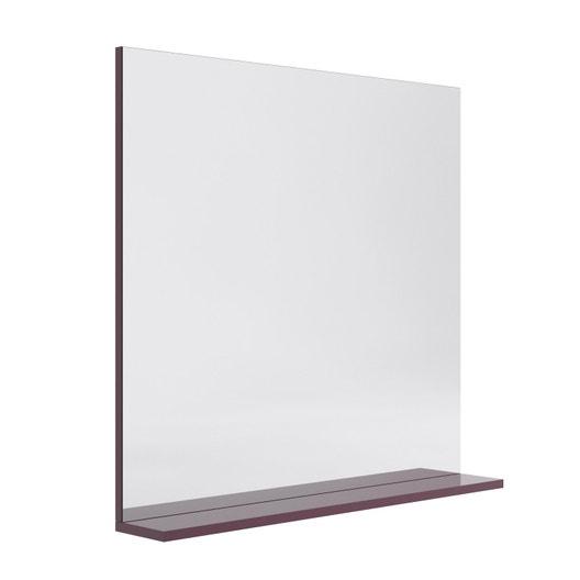 miroir avec tablette aubergine l 80 0 cm opale leroy merlin. Black Bedroom Furniture Sets. Home Design Ideas