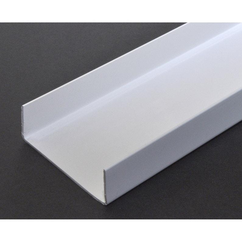Nez De Cloison Pvc Blanc 20 X 74 Mm L26 M