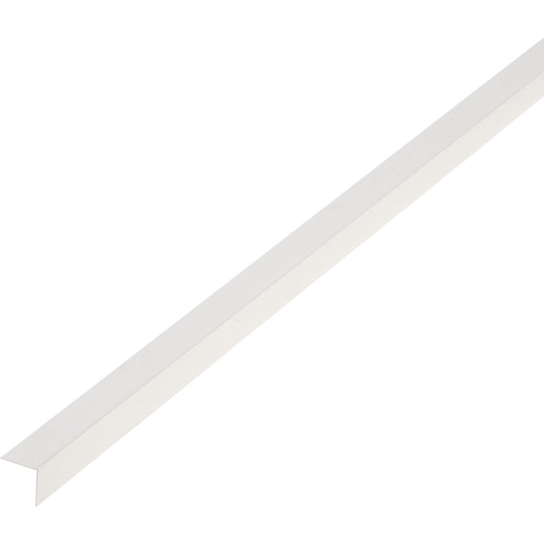 corni re pvc blanc 20 x 20 mm l 2 6 m leroy merlin. Black Bedroom Furniture Sets. Home Design Ideas