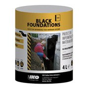 Enduit de fondation AQUAPLAN Black foundation, 4 L