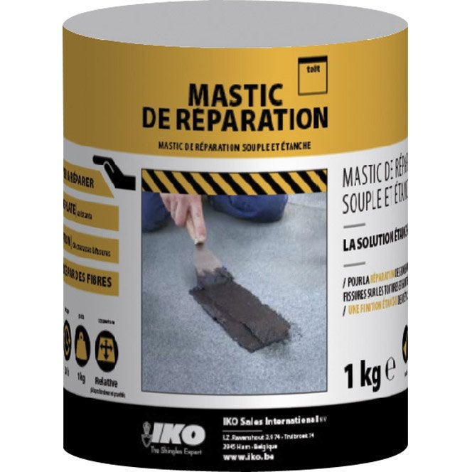 mastic iko mastic de r paration 1 kg noir leroy merlin. Black Bedroom Furniture Sets. Home Design Ideas
