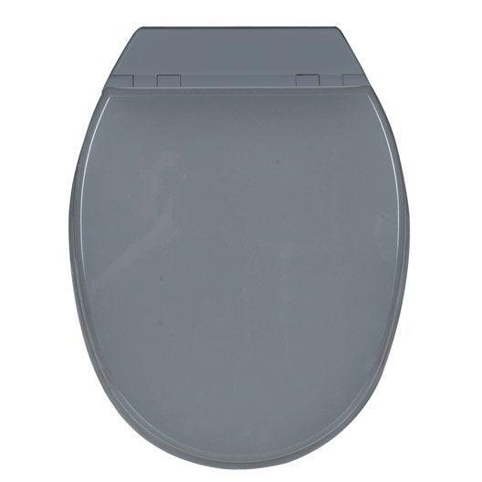 abattant frein de chute gris bois compress sensea bolero leroy merlin. Black Bedroom Furniture Sets. Home Design Ideas