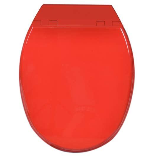 abattant frein de chute rouge bois compress sensea. Black Bedroom Furniture Sets. Home Design Ideas