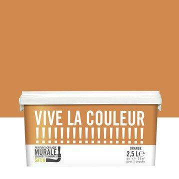 Peinture orange VIVE LA COULEUR! 2.5 l