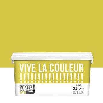 Peinture jaune VIVE LA COULEUR! 2.5 l