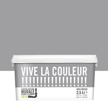 Peinture gris moyen VIVE LA COULEUR! 2.5 l