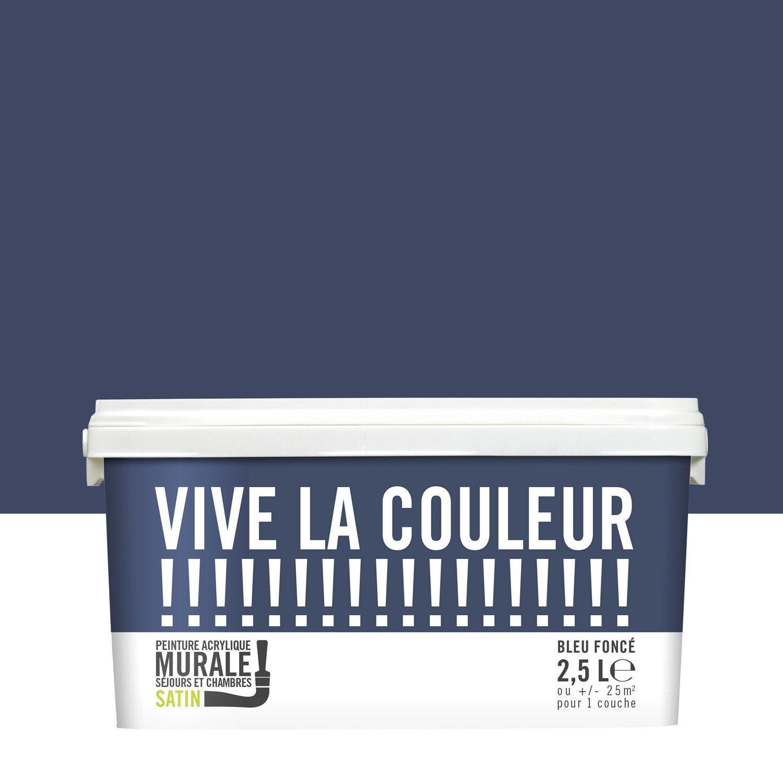 Peinture Bleu Fonc Vive La Couleur 2 5 L Leroy Merlin