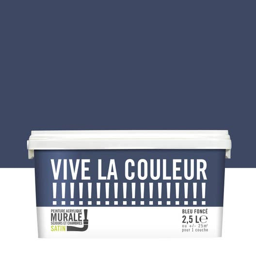 Peinture bleu foncé VIVE LA COULEUR! 2.5 l | Leroy Merlin