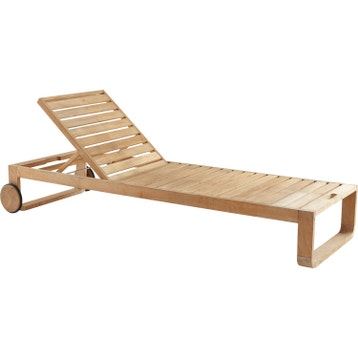 Bain de soleil de jardin en bois Resort naturel 97803cd12699