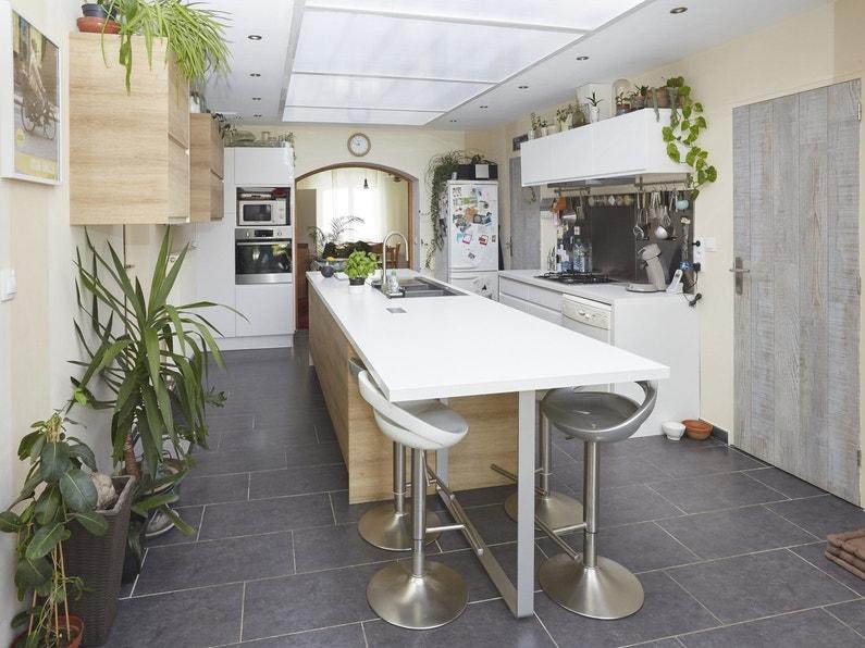 Les photos de vos plus belles cuisines - Cuisine leroy merlin grise ...