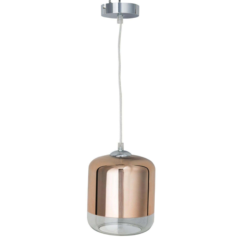 Suspension e27 design myrta verre cuivre 1 x 60 w inspire - Suspension cuivre maison du monde ...
