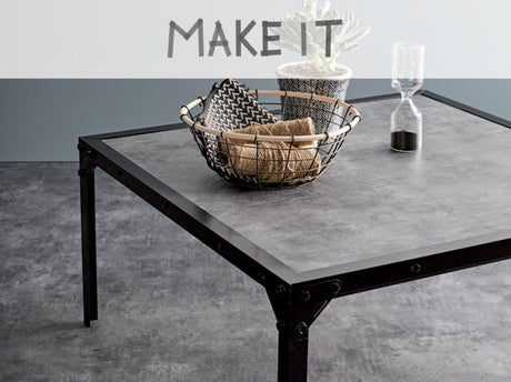 diy fabriquer une table basse au style industriel. Black Bedroom Furniture Sets. Home Design Ideas