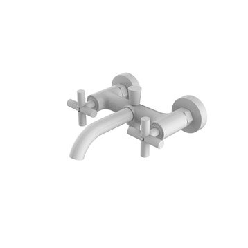 Mitigeur mécanique de baignoire blanc mat, SENSEA Nosu