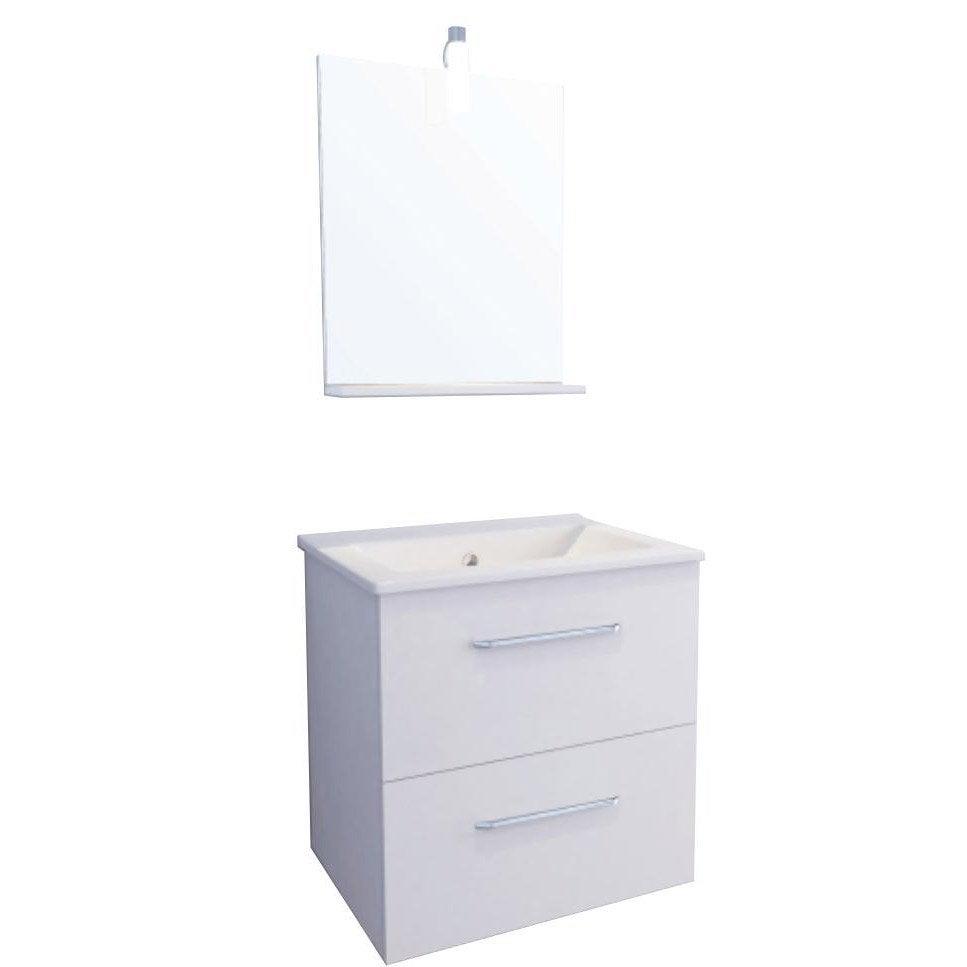 Meuble vasque blanc dado leroy merlin - Meuble sous vasque blanc ...