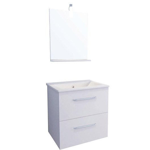 Meuble vasque blanc dado leroy merlin for Meuble vasque wc leroy merlin