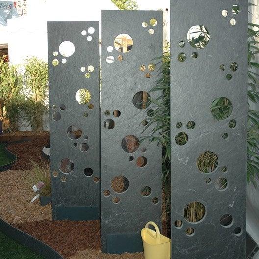 Panneau ardoise ajour x cm noir leroy merlin - Panneau decoratif jardin metal ...