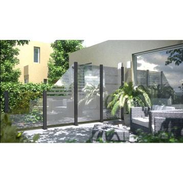 Panneau occultant, panneau bois, claustra, panneau verre jardin au ...