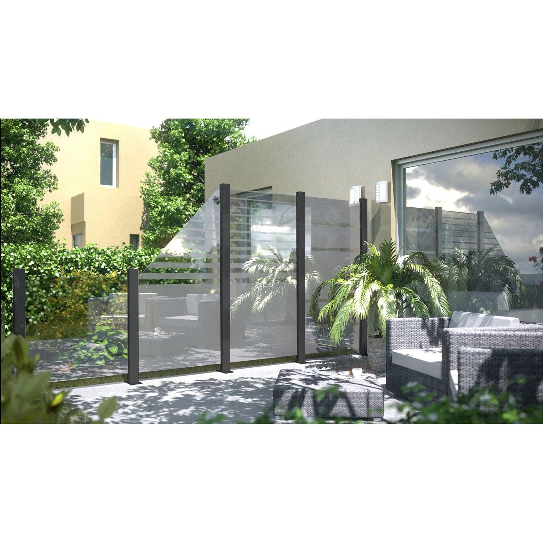 Brise Vue En Verre Pour Terrasse dedans panneau verre occultant beta, l.90 x h.180 cm, transparent | leroy