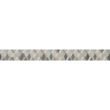 Lot de 4 listels Trend gris, l.3.5 x L.40 cm