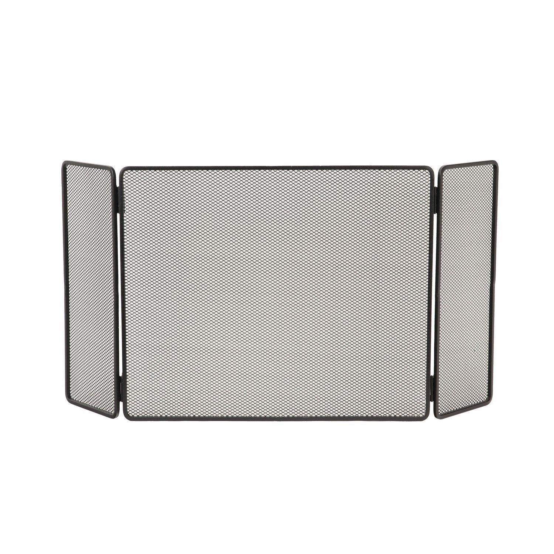 pare feu 3 volets lemarquier basique pfe429 50x100 cm acier leroy merlin. Black Bedroom Furniture Sets. Home Design Ideas