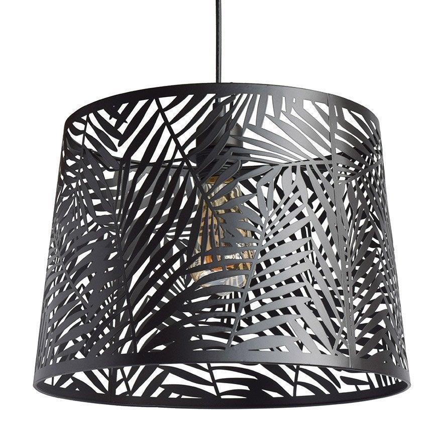 Suspension métal noir SEYNAVE Jungle 1 lumière(s) D.35 cm