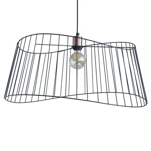 suspension m tal noir et cuivre seynave oc ane gm 1. Black Bedroom Furniture Sets. Home Design Ideas