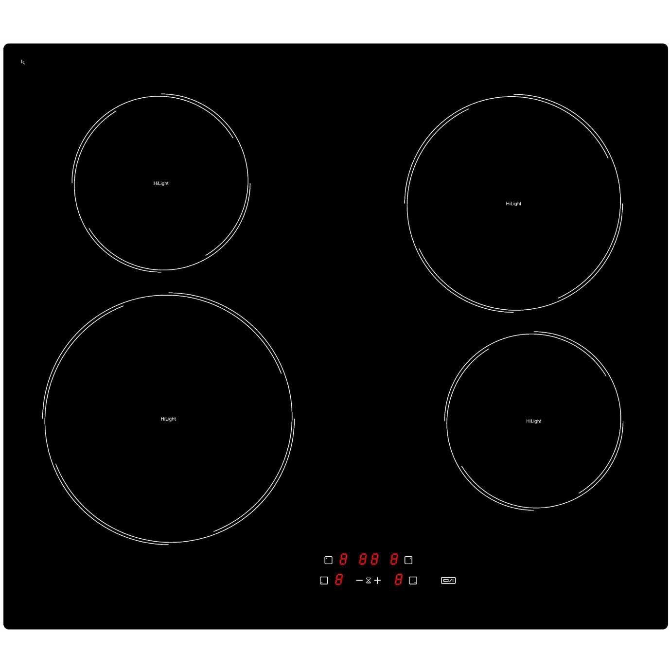 Comparatif Table De Cuisson Induction Et Vitroceramique plaque vitrocéramique 4 foyers, noire, frionor tvs604