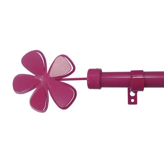 kit de tringle rideau extensible roseshoc rose brillant 120 210cm leroy merlin. Black Bedroom Furniture Sets. Home Design Ideas
