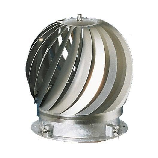 chapeau aspirateur poujoulat 180 mm   leroy merlin