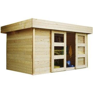 Abri de jardin bois Stockholm, 8.38 m² Ep.28 mm