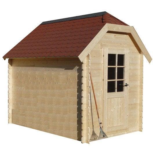Abri de jardin abri garage rangement et tendage leroy merlin for Abri de jardin en bois sans entretien