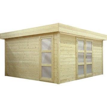 Abri de jardin en bois laitila NATERIAL, 13.07 m², ép. 28 mm
