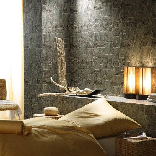 papier peint expans sur papier mur pierre gris larg 0. Black Bedroom Furniture Sets. Home Design Ideas