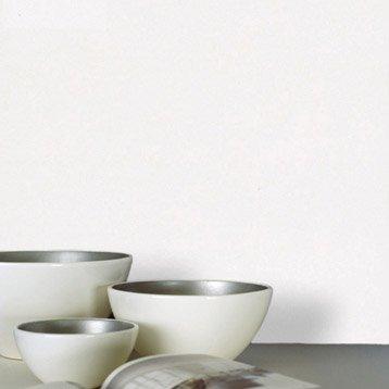 Papier peint vinyle sur intissé INSPIRE Uni, blanc blanc n°0, larg. 0.53 m