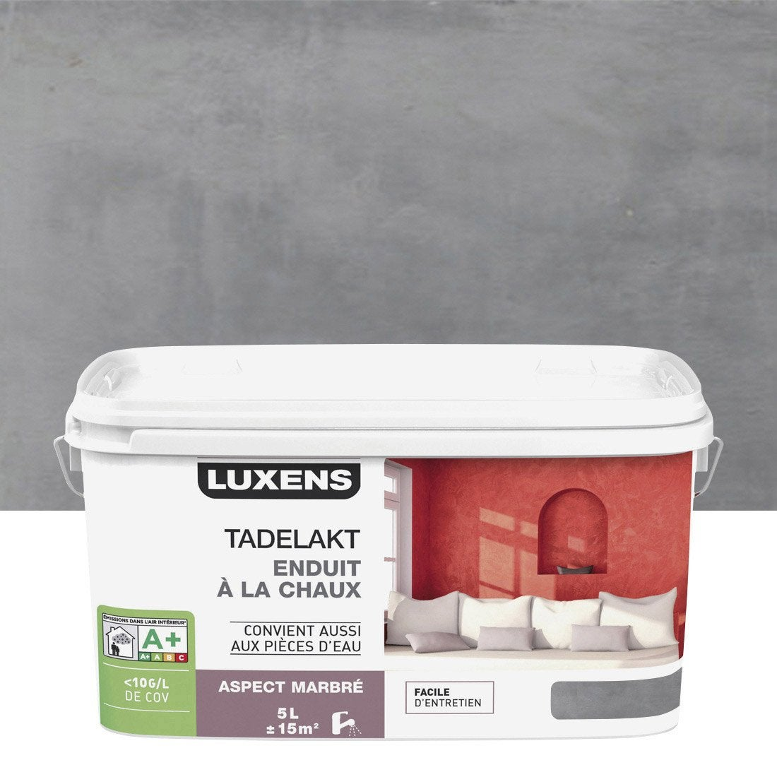 Peinture effet, Tadelakt LUXENS, gris galet 3, 5 l