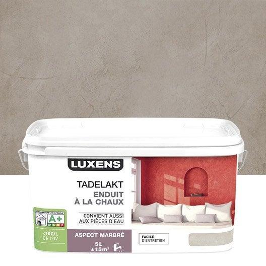 Peinture effet tadelakt luxens gris gris 4 5 l leroy merlin - Enduit chaux leroy merlin ...