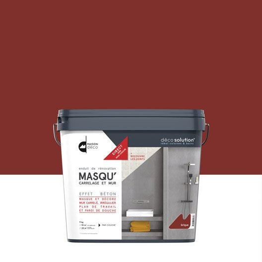 enduit masqu 39 carrelage et mur maison deco rouge brique 9 kg leroy merlin. Black Bedroom Furniture Sets. Home Design Ideas
