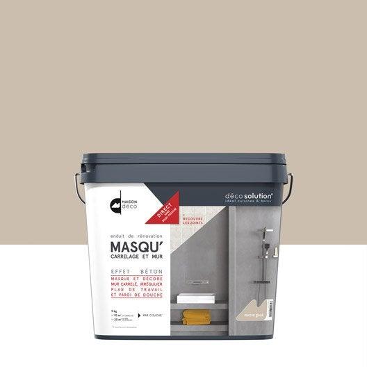 enduit masqu 39 carrelage et mur maison deco marron glac 9 kg leroy merlin. Black Bedroom Furniture Sets. Home Design Ideas