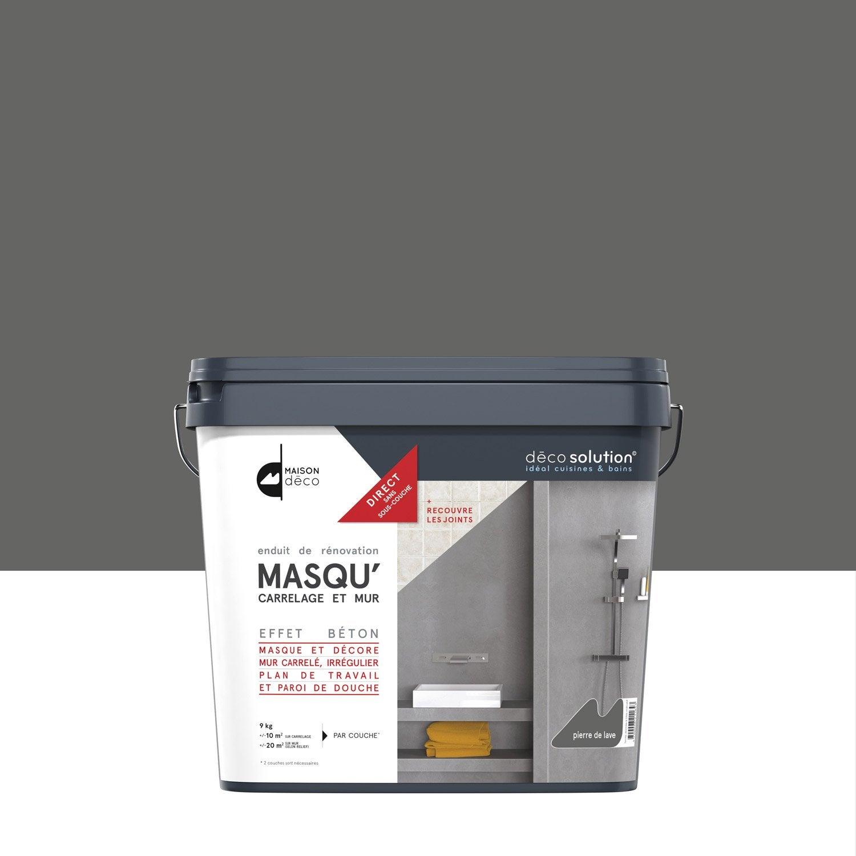 Enduit Masqu Carrelage Et Mur Maison Deco Pierre De Lave 9 Kg
