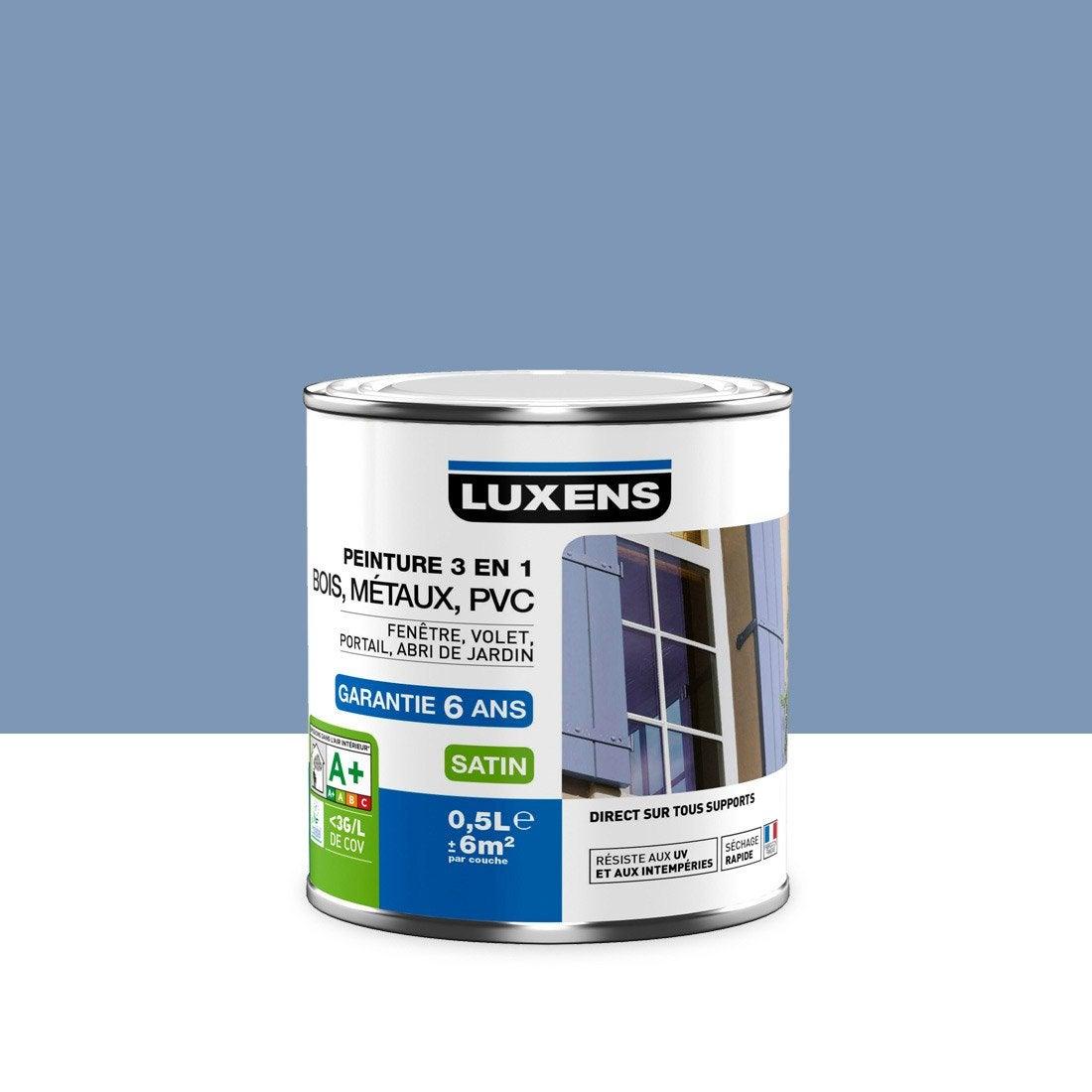 peinture multimat riau ext rieur 3 en 1 luxens bleu provence 0 5 l leroy merlin. Black Bedroom Furniture Sets. Home Design Ideas