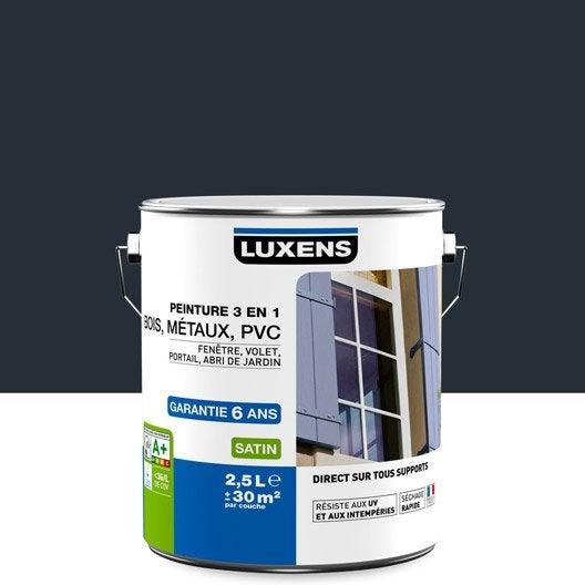 Peinture multimat riau ext rieur 3 en 1 luxens gris anthracite 2 5 l leroy merlin for Peinture exterieur