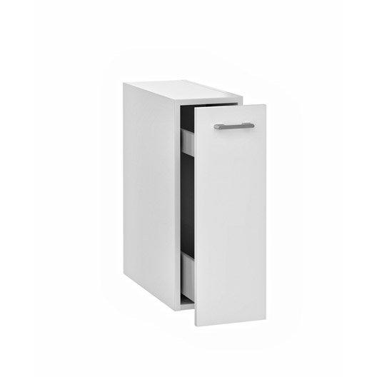 caisson meuble bas sensea remix blanc blanc n 0 leroy merlin. Black Bedroom Furniture Sets. Home Design Ideas