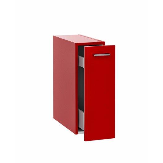 Meuble bas x x cm rouge remix leroy - Meuble 20 cm de large ...
