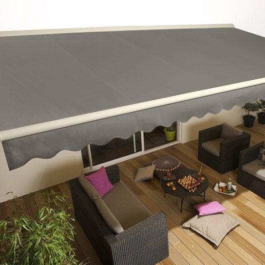 pose d 39 un store banne motoris jusqu 39 5 m x m par leroy merlin leroy merlin. Black Bedroom Furniture Sets. Home Design Ideas